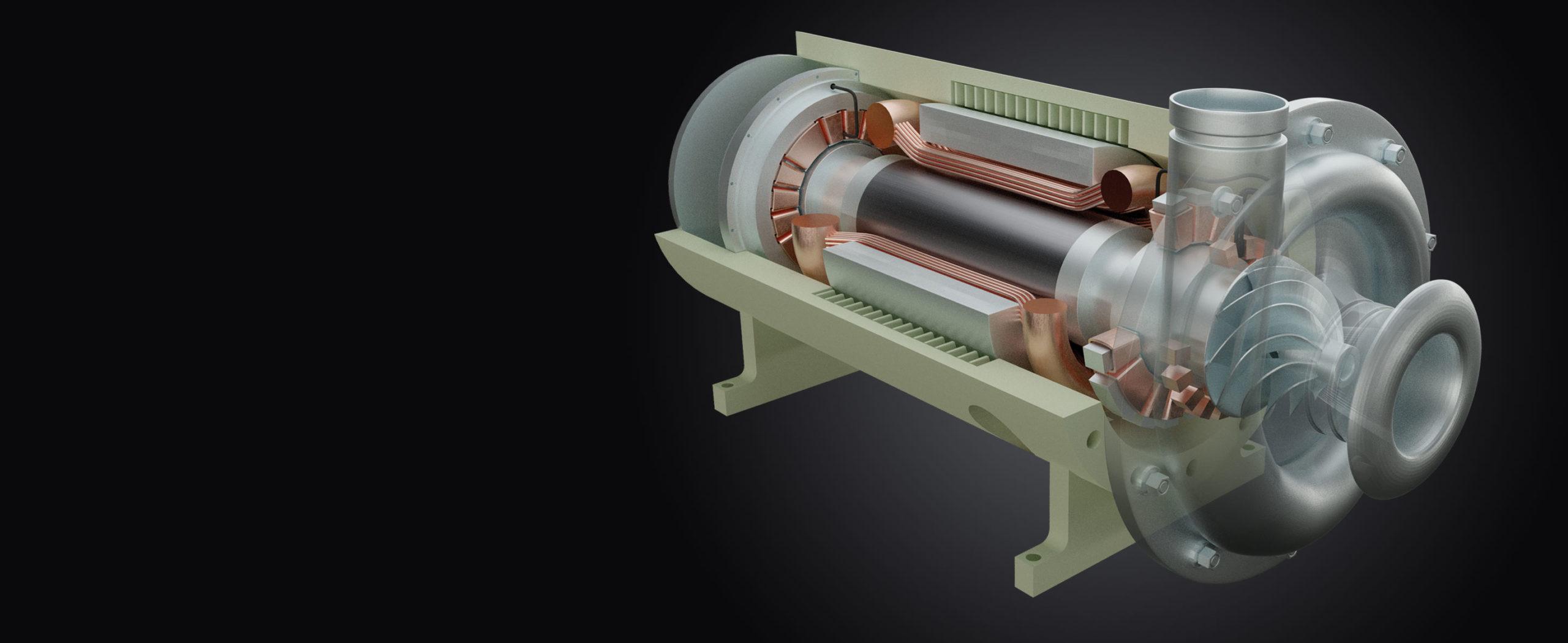 Turbine technical illustration   3D Printing Branding   Toolbox Creative